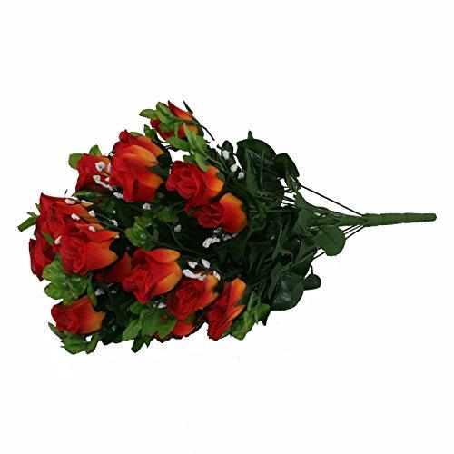 ünstliche Blume, Burnt Orange Rose & Gyp Strauß 24 Stiele Roses 55 cm ()