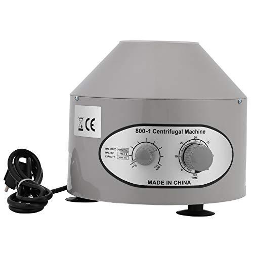 Cocoarm Tischzentrifuge Laborzentrifuge Medizinische Centrifuge Desktop Electric Lab Zentrifuge mit Einstellbaren Geschwindigkeiten und Zeitmesser Tischzentrifuge (4000rpm, 6 x 20ml, EU 220V)
