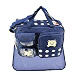 Tubayia Baby Wickeltasche Wasserdicht Muttertasche Babytasche Handtasche Schultertasche mit Wickelauflage (Marine)