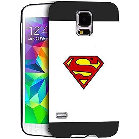 Superman Logo Case Cover Samsung S5 I9600 Superman Logo - [ DC Comics ] Galaxy S5 I9600 Cabina telefonica CustodiaCase Durevole For Ragazzi Superman Logo Samsung Galaxy S5 I9600 Back Cover