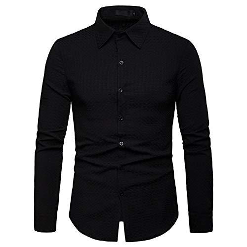 PARKLEES Plaid Shirt MännerFrühling Neue Taste Unten Langarm Kleid Shirt Herren Slim Fit Business Casual Hemd Plus Größe Chemise Homme (Pink Plaid-kleid Shirt Für Männer)