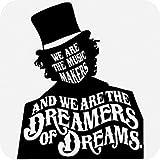 SUPERSTICKI® Willy Wonka We Are The Music Makers Quote Aufkleber Decal Hintergrund/Maße in Inch Vinyl Sticker Cars Trucks Vans Walls Laptop  BLACK  5.5 x 4.5 in CCI571