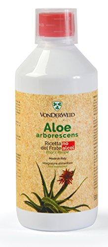 VONDERWEID - Ricetta di Padre Zago Variante Senza Alcool, Frullato di Aloe Arborescens, Integratore Alimentare Biologico, Bottiglia Pet 500ml