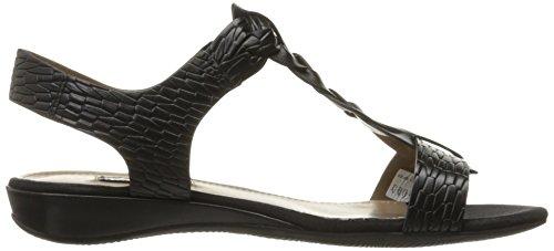 Ecco Womens Womens Bouillion Knot T-Strap II Dress Sandal Black/black