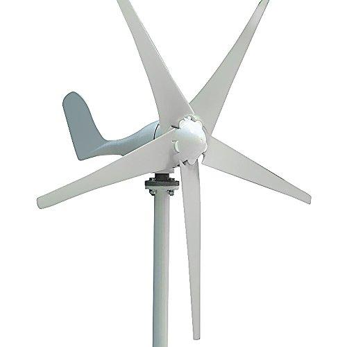 vogvigo 100W 3Klingen Wind Turbine Generator Kit, Wind Power System für Ladekabel Batterien 12V (keine MPPT) Ergänzung Integrated Automatic Bremssystem, dreiphasigen DC–12V
