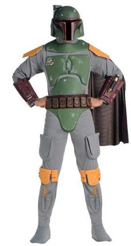 Star Wars Deluxe Kinder Kostüm Boba Fett Größe L 8 bis 10 Jahre (Star Wars Boba Fett Kind Kostüme)