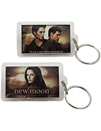 Twilight New Moon Keychain Lucite Love Triangle - Bella / Edward & Jacob