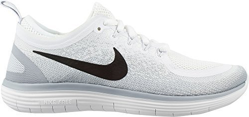 Nike Womens Free Rn Distance 2 Running Shoe (White/Grey, - Nike Flex Womens Schuhe Run