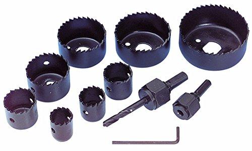 Lochsägen Satz Lochsäge 19mm 22mm 25mm 35mm 38mm 44mm 51mm 64mm Zur Bearbeitung von Holz, Weichmetallen, Gipskartonplatten usw.