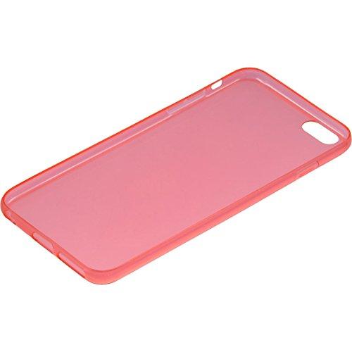 PhoneNatic Case für Apple iPhone 6 Plus / 6s Plus Hülle Silikon blau Slimcase Cover iPhone 6 Plus / 6s Plus Tasche + 2 Schutzfolien Rot