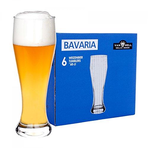 6er Set Bavaria Weizenbiergläser 0,5 Liter geeicht -