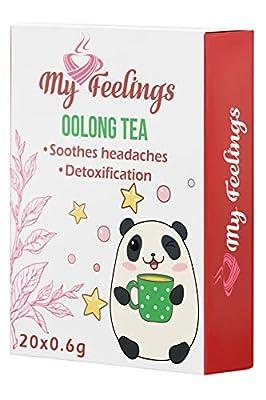 My Feelings - Lot de 20sachets d'extrait de thé Oolong en poudre, 20x0,6g