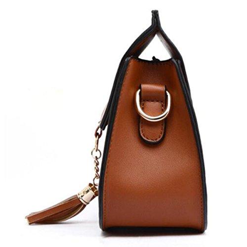 Borsa Piccola Borsa A Tracolla Messenger Bag Bag,Brown Black