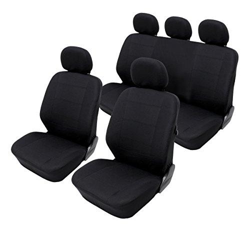 ECD Germany Auto Sitzbezug Polyester Schwarz Universal Sitzbezug Sitzbezüge Schonbezug Schonbezüge Sitzschoner