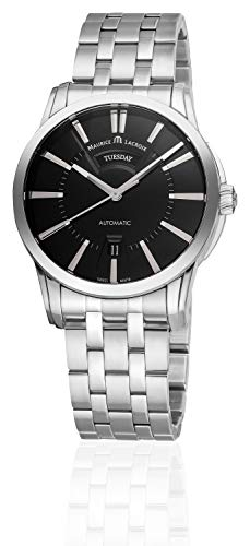 Maurice Lacroix Pontos Automatic Jour-Date Men's Automatic Watch with Day-Date Dial Analogue Display and Stainless Steel Strap PT6158-SS002-33E-1