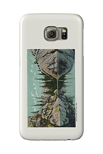 Custer State Park, South Dakota - Reflection View on Sylvan Lake - Vintage Halftone (Galaxy S6 Cell Phone Case, Slim Barely There) - Sylvan-lake-custer-state-park