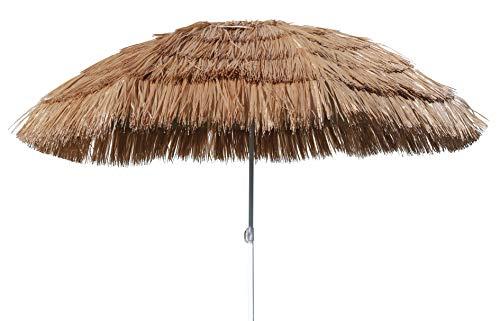 Spetebo Hawaii Strandschirm Ø 160cm - knickbar - Sonnenschirm Gartenschirm Balkonschirm -