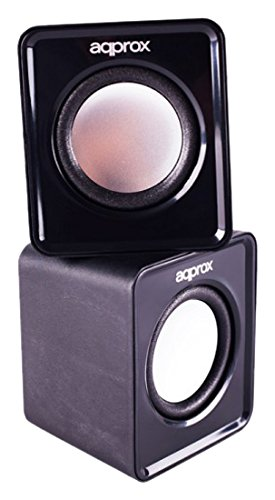 Keep Out APPROX Twin 2.0 Multimedia Stereo Speakers, 5W RMS, Black (APPSPX1B)