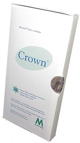 Geschmiert 36 Kondome (Crown Skinless Skin Kondome - die dünnste Latex Kondome ((3 x 36 Stück)))