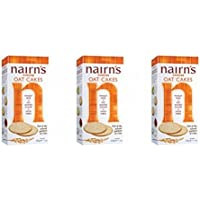 (3 PACK) - Nairns - Cheese Oat Cakes | 200g | 3 PACK BUNDLE by Nairn's Oatcakes