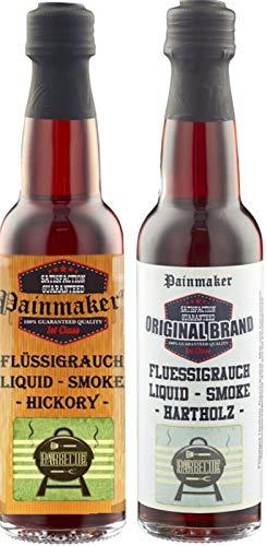 Painmaker`s Liquid Smoke Hickory und Hardwood 2 x 100ml