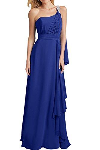 La_mia Braut Lilac Langes Chiffon Brautjungfernkleider Abendkleider Partykleider schmaler Schnitt Etuikleider Royal Blau