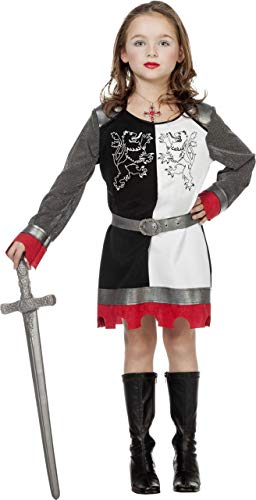 Kinder Und Weiß Schwarz Kostüm - NEU Kinder-Kostüm Ritterin schwarz-weiß Gr.116-128