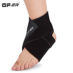 Generic Black, Free size : OPER black Ankle Brace Support Band ankle foot support neoprene elastic pressure breathable ankle Protects Therapy AO-50