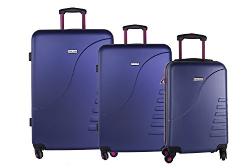 3 Maletas rígidas PIERRE CARDIN viola 4 ruedas cabina para viajes VS3