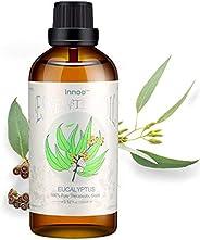 Innoo Tech Eucalyptus Essential Oil 100ml, 100% Pure Natural Aromatherapy Eucalyptus Organic Essential Oil for