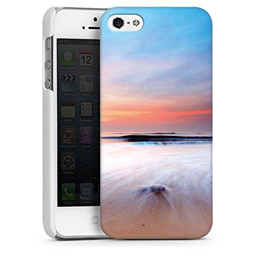 Apple iPhone 4 Housse Étui Silicone Coque Protection Plage Paysage Mer CasDur blanc