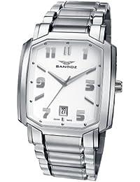 Sandoz 81301-00 - Reloj de caballero de cuarzo, correa de acero inoxidable color plata