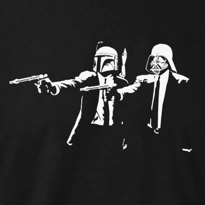 Texlab - Boba Vader Fiction - Herren T-Shirt Flaschengrün