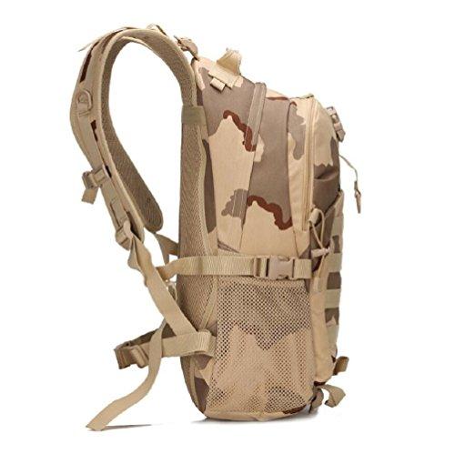 ZC&J Outdoor 20-35L Kapazität taktische Tarnung Schulter Tasche, Outdoor-Freizeit Wanderung Bergsteigen Übung Paket, Oxford Tuch feste Verschleiß verstellbaren Gürtel Schultertasche A