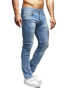 LEIF NELSON Uomo Pantaloni Jeans Stretch Jeans pantaloni per il tempo libero ln1205bl di RF