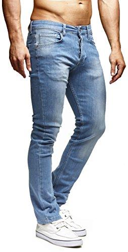 LEIF NELSON Herren Hose Jeans Jeanshose Freizeithose Denim Regular Fit LN1205BL-RF; W31L30, Blau