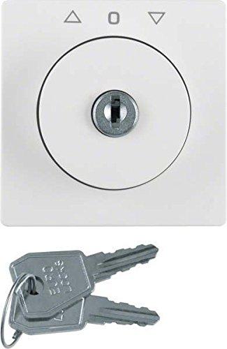 Preisvergleich Produktbild Hager Jalousie Q.1 – Zentralplatte mit Schlüssel für Polar Weiß