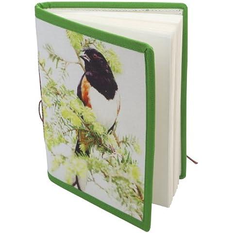 India Bird Impresos Papel Artesanal cuaderno diario