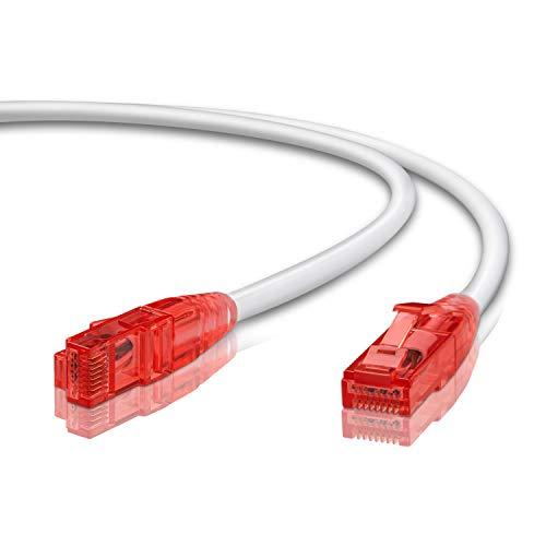 LW Electronic 10m - CAT.6 LSZH Ethernet Gigabit LAN Netzwerkkabel 10m (RJ45), 10/100/1000Mbit/s, Patchkabel, kompatibel zu CAT.5 / CAT.5e / CAT.7
