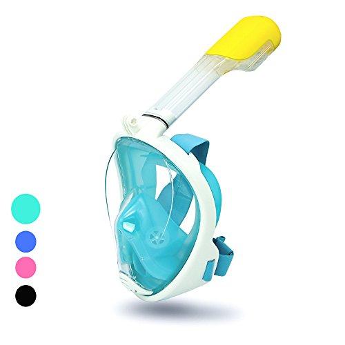 HG® Tauchermaske,Schnorchel Tauchmaske/Taucher Maske-mit 180 Grad Betrachtungsfläche-verhindert Gag Reflex-Freie Atmung Design-für Aktionssportkamera Kompatibel neu Set