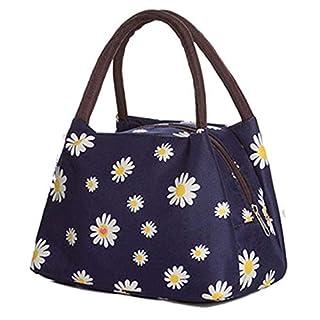 Acecoree- Handtasche Durable Women Casual Soft Print Reißverschluss Canvas Handtasche Schrankordnungssysteme