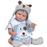 Babypuppe,Marlene Lebensechtes Reborn Baby Doll 50cm Neugeborene Puppe Kinder Mädchen Playmate Geburtstagsgeschenk