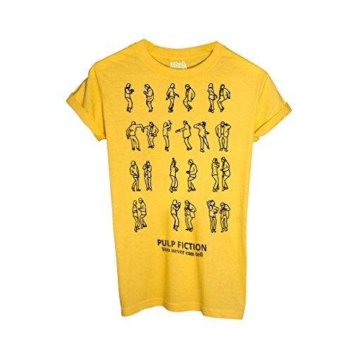 T-Shirt PULP FICTION DANCE YOU NEVER CAN TELL - FILM by Mush Dress Your Style - Uomo-XXL-Gialla