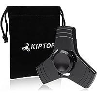 KIPTOP funda Tumbler juguete de escritorio Fidget Rolling Stick juguete para niños adolescentes adultos (S- negro)