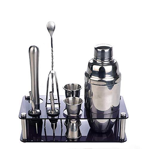 CCSUN 9 Stück Nach Hause Bar Set,Tool-kit Mit Professionellen Barkeeper Shaker Cocktail Mixologie, Acryl Ständer, Jigger Und Andere Wesentliche Bartending Bar Tools -