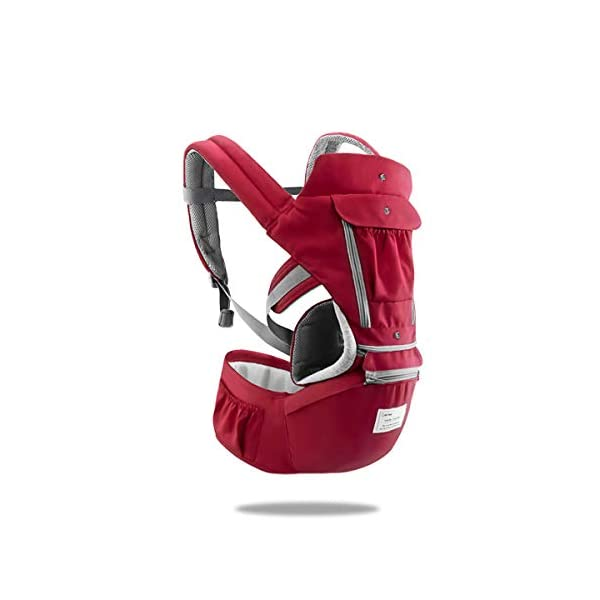 SONARIN 3 in 1 Multifunction Hipseat Baby Carrier,Front and Back,100% Cotton,Ergonomic,Easy Mom,Adapted to Your Child's Growing, 100% Guarantee and Free DELIVERY,Ideal Gift(Red) SONARIN Applicable age and Weight:0-36 months of baby, the maximum load:36KG, and adjustable the waist size can be up to 47.2 inches (about 120 cm). Material:designers carefully selected soft and delicate Cotton fabric. Resistant to wash, do not fade, ensure the comfort and breathability, Inner pad: EPP Foam,high strength,safe and no deformation,to the baby comfortable and safe experience. Description:Scientific 35°, the baby naturally fits the mother's body, safe and comfortable.Patented design of the auxiliary spine micro-C structure and leg opening design, natural M-type sitting.H-type bridge belt, effectively fixed shoulder strap position, to prevent shoulder straps fall, large buckle, intimate design, make your baby more secure. 1