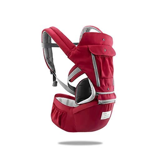 SONARIN 3 in 1 Multifunzione Hipseat Marsupio Baby Carrier,Porta bebè,Portantina per bebè,Anteriore e Posteriore,100% Cotone,Ergonomico,100% GARANZIA e CONSEGNA GRATUITA,Ideale Regalo(Rosso)