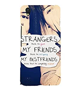 EPICCASE bestfriends know me Mobile Back Case Cover For OnePlus X (Designer Case)
