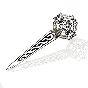 Eburya The Celtic Cross Highland Kilt Pin aus Schottland – in Form eines keltischen Kreuzes