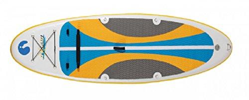 Dreams4Home Paddel Board - Stand Up Board, Paddeln, Board, Strand Board, Outdoor, Freizeit, Meer, Strand, Größe: 289 x 76 x 15 cm, in blau,orange und grau